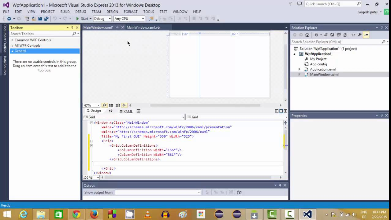 visual basicnet wpf tutorial getting started and creating your first application - Visual Basic Beispiele