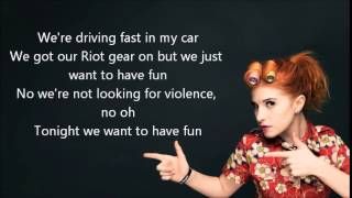 Paramore Fast In My Car Lyrics