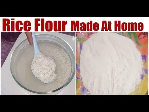 How to make rice flour at home for face