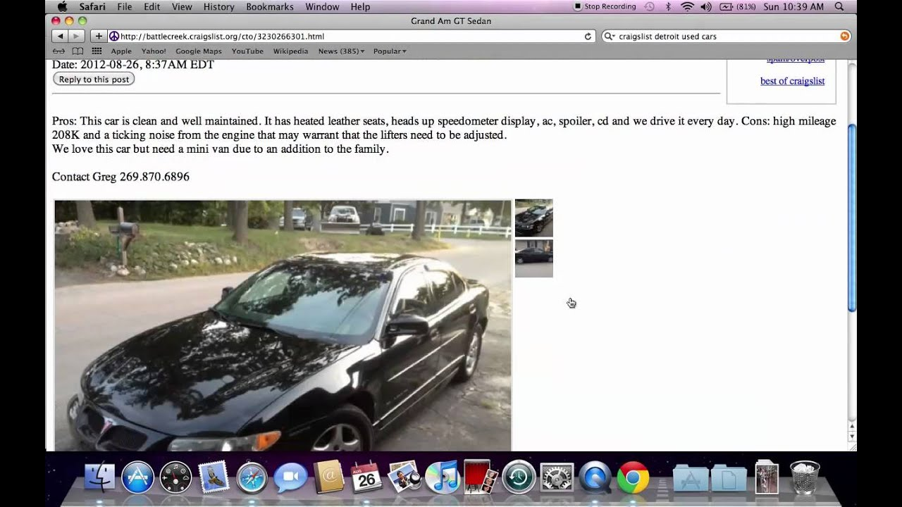 Craigslist Battle Creek Michigan Used Cars And Trucks Online - May best craigslist ad car ever