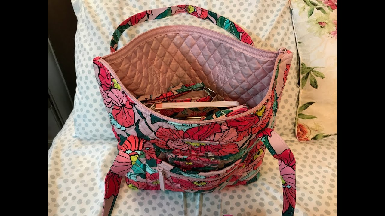 ad377b4e00 Review   What s in my Vera Bradley Villager Tote Bag Vintage Floral ...