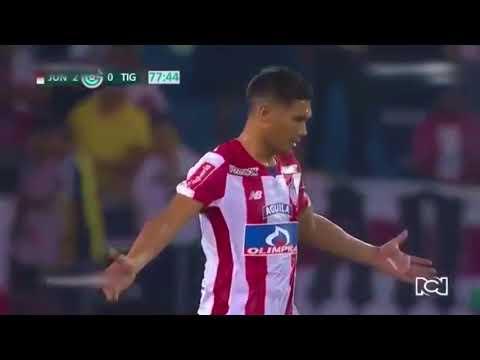 El ridículo penal de Teo Gutiérrez. Junior-Tigres