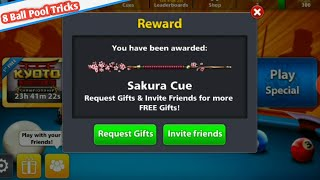8 Ball Pool New Reward is Back Get Free [ Sakura Cue ] New Free Cue 100% Free😍