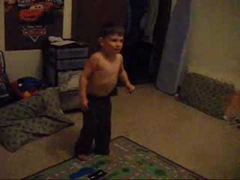 3 year old doing Capoeira