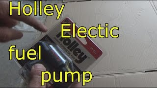 Holley universal electric fuel pump for carb, How I replaced.