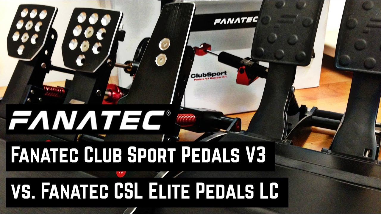 fanatec club sport pedale v3 vs fanatec csl elite pedale. Black Bedroom Furniture Sets. Home Design Ideas