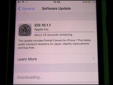 Updating iphones through wi fi