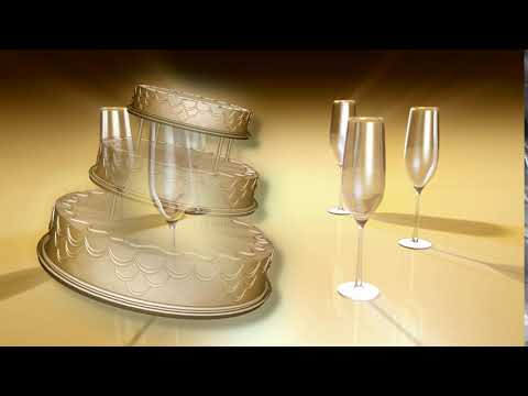 wedding-cake-and-champagne-glass---wedding-background-video-for-after-effects-2018