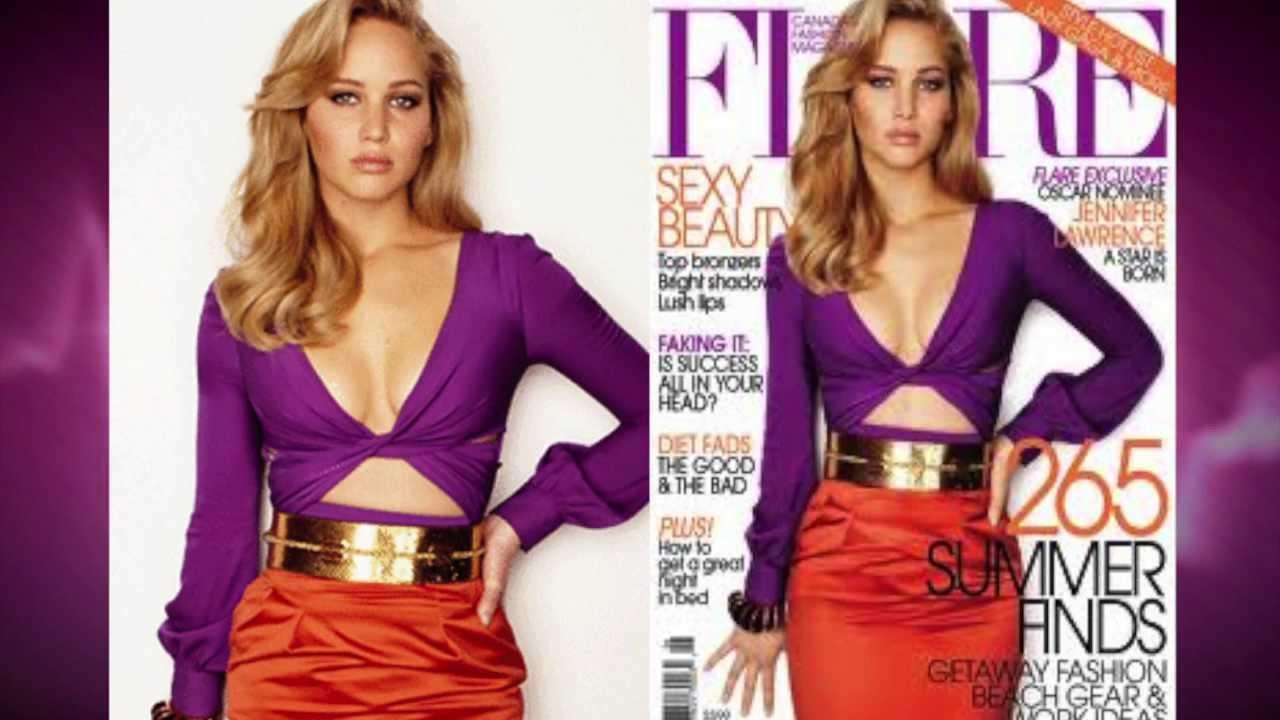 jennifer lawrence photoshopped for cover of fashion magazine