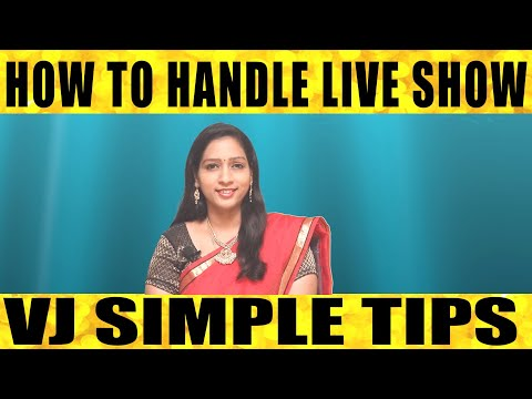 How To Handle Live Show Vj Simple Tips | News Reader Training | Media Job Offers |