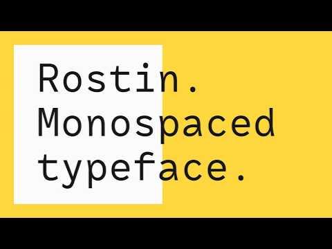 RF Rostin – Monospaced Typeface