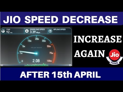Thumbnail: JIO Internet Speed - How to Increase JIO INTERNET SPEED - Reliance Jio 4g SPEED