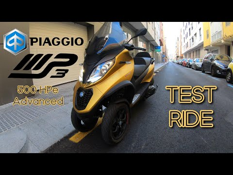 Piaggio MP3 500 HPe Advanced - Test Ride of Three-Wheeler - VLOG239 []4K]