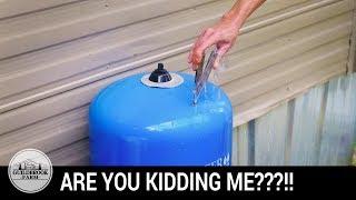 The Off Grid Water Saga Continues...Bad Pressure Tank?