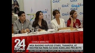 24 Oras: Mga bagong Kapuso stars, thankful at excited na para sa kani-kanilang projects