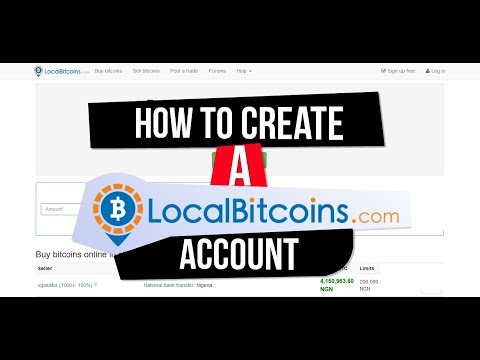 How To Create A Localbitcoins Account - Localbitcoins SignUp | Verification (Tutorial)