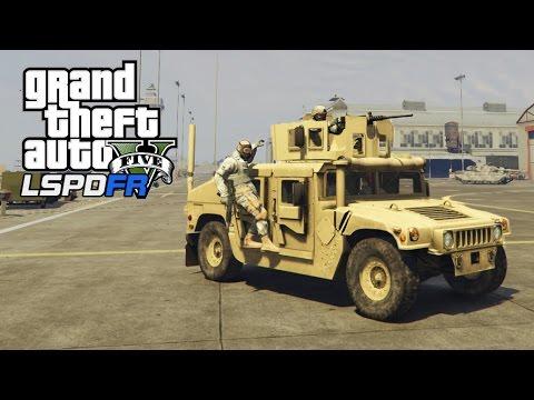 GTA 5 - LSPDFR #7 - SQUADRA MILITARE (Fort Zancudo, Humvee, Colpo in banca...)