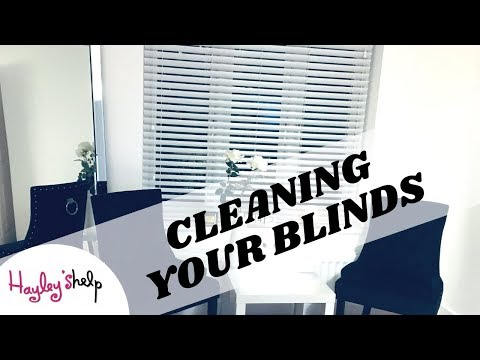HOW TO CLEAN WOODEN BLINDS -  CLEANING YOUR BLINDS 3 EASY STEPS