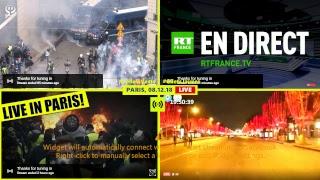 PARIS LIVE - GILETS JAUNES - 08-12-2018