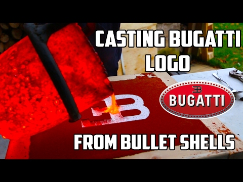 Making Gold Bugatti Logo