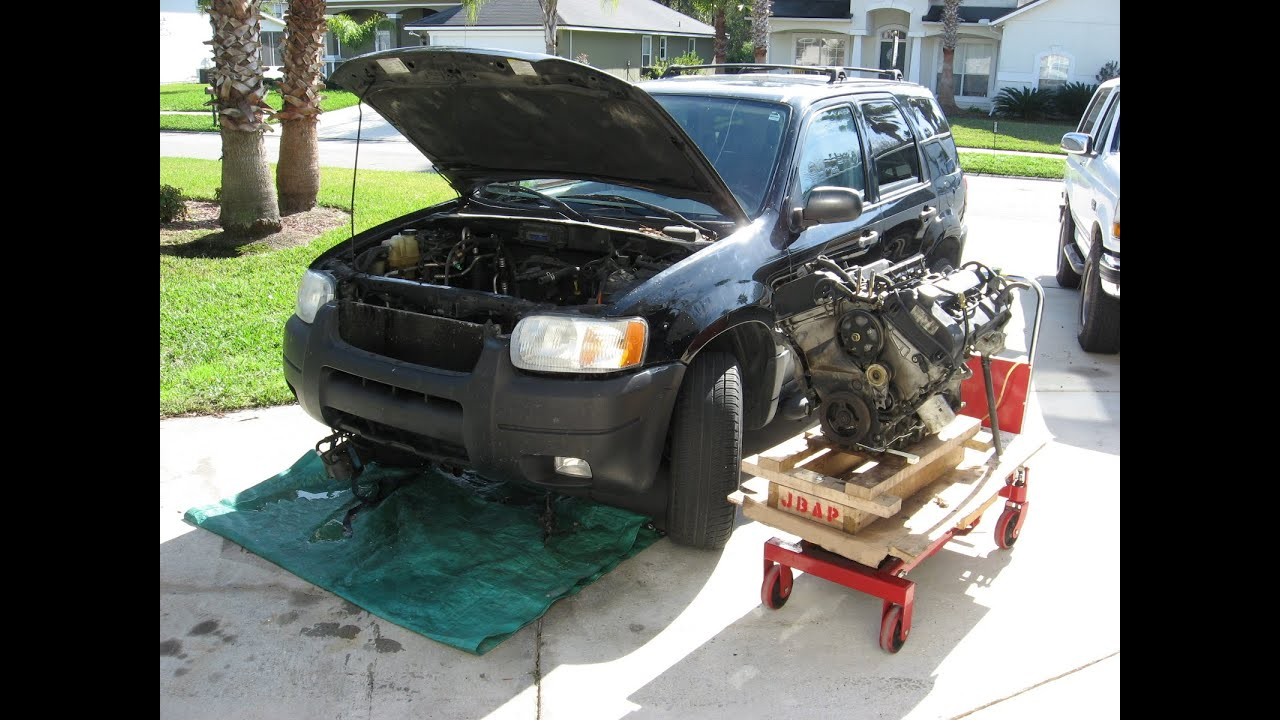 maxresdefault taurus engine into a ford escape part 2 assembly and install Automatic Transmission Wiring Diagram at honlapkeszites.co