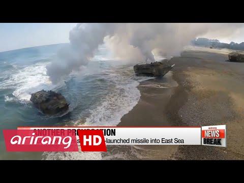 ARIRANG NEWS BREAK 10:00 N. Korea fires submarine-launched ballistic missile into East Sea