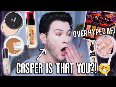 TESTING NEW OVER HYPED DRUGSTORE MAKEUP! ELF, Loreal Foundation, Maybelline, ETC!