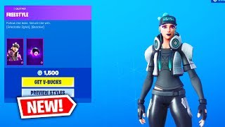 Fortnite ITEM SHOP (FREESTYLE SKIN & RED CAMO WRAP) Fortnite Battle Royale