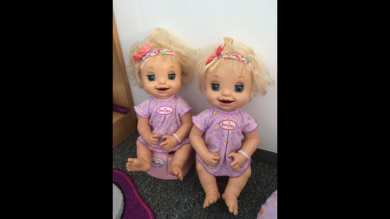 Baby Twins Routine Baby Alive Learns To Potty Twins Youtube
