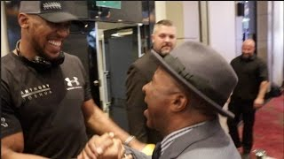 WHEN ANTHONY JOSHUA MET DOC HOLIDAY & UNDEFEATED AMERICAN PROTEGE RAPHAEL MURPHY *EXCLUSIVE*