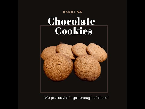 Chocolate Cookies Recipe | Cocoa Butter Cookies | Dark Fantasy style Chocolate Cookies | Rasoi.me