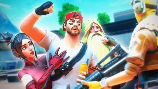 Nickmercs Wanted To FIGHT This Guy in Random Squads! (Fortnite Battle Royale)