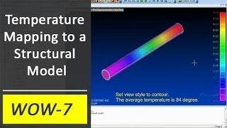 Temperature Mapping to a Structural Model in Femap