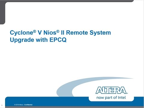 Cyclone V Nios II Remote System Upgrade with EPCQ - YouTube