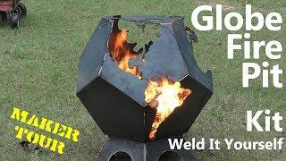 Geometric Globe Firepit | Weld it Yourself | Allen's Welding and Woodworking | Maker Tour