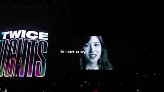 190713 TWICE - Watching Fanmade VCR w TWICE & ONCE @ TWICELIGHTS 2019, Singapore Indoor Stadium