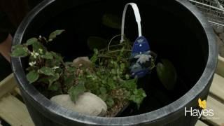 How to make a barrel pond