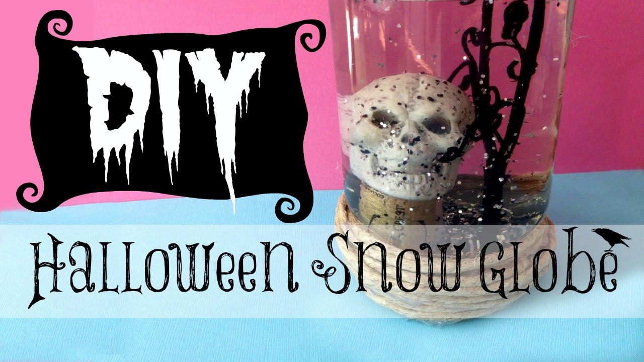 Diy halloween skull decorations - Diy Halloween Decorating Skull Snow Globe Michele Baratta Youtube