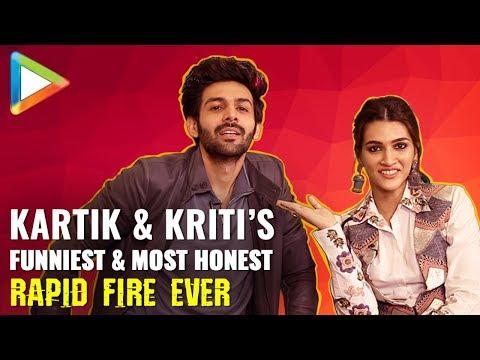 Kartik Aaryan & Kriti Sanon鈥檚 SUPERB Rapid Fire On Shah Rukh Khan, Salman Khan, Akshay, Madhuri