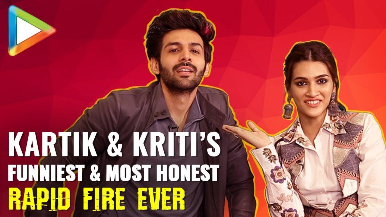 Download Kartik Aaryan & Kriti Sanon's SUPERB Rapid Fire On Shah Rukh Khan, Salman Khan, Akshay, Madhuri
