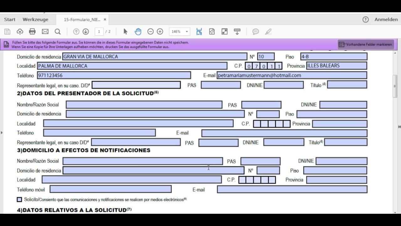 Das NIE Antragsformular EX15 ausfüllen   How to fill out the EX15 ...