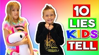 10 LIES KIDS TELL thumbnail