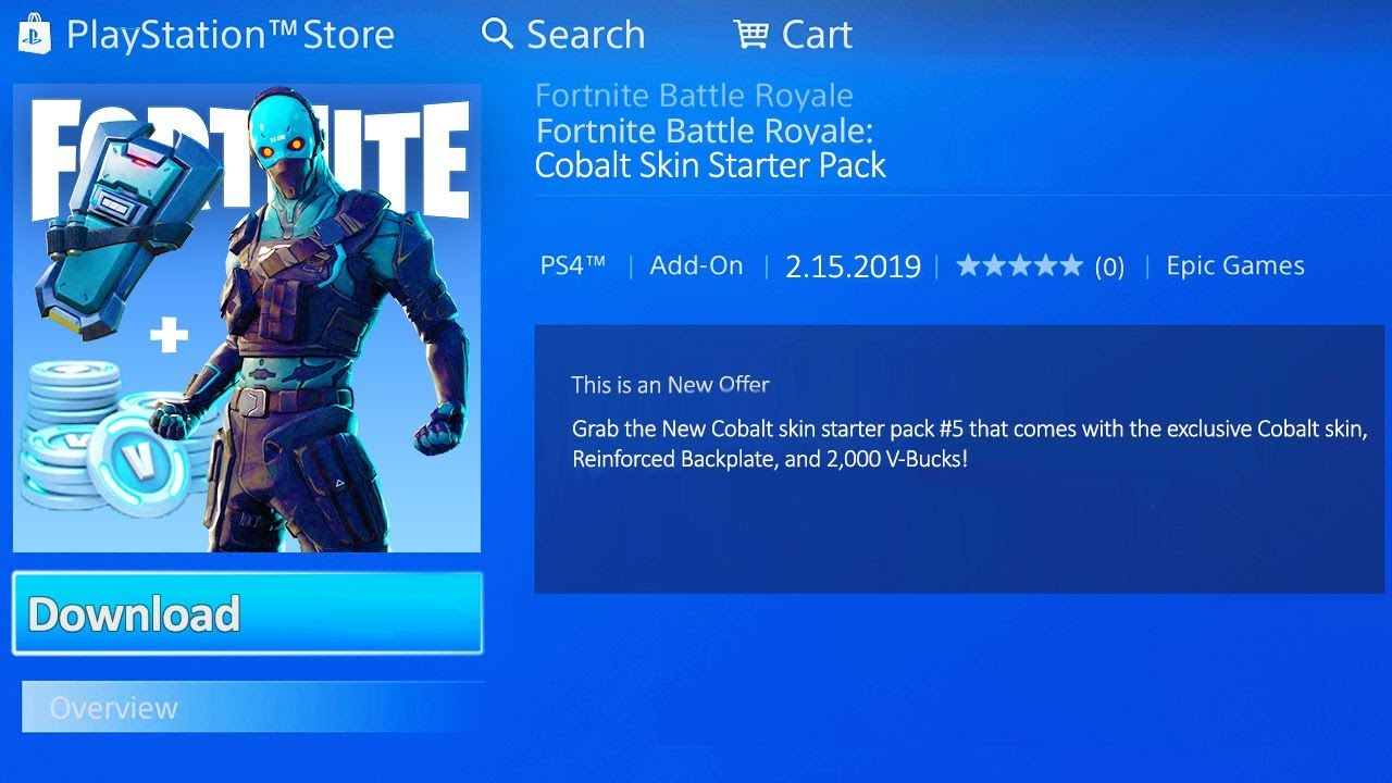 How Much Is A New Starter >> New How To Get Starter Pack 5 In Fortnite Cobalt Starter