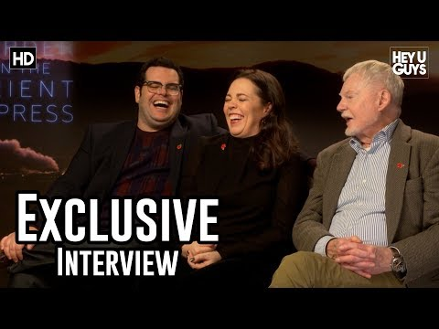Josh Gad, Olivia Colman & Derek Jacobi  Murder on the Orient Express Exclusive