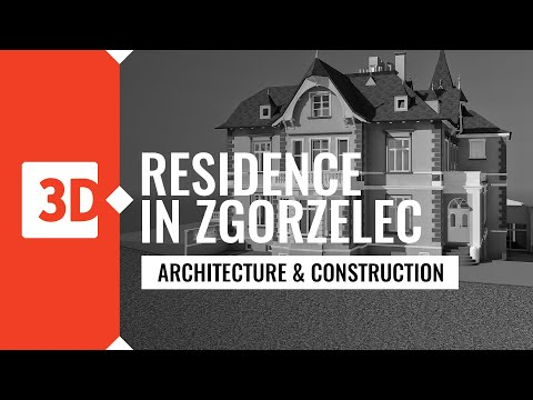 Laser scanning to BIM model - the residence in Zgorzelec, Poland