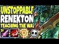 UNSTOPPABLE RENEKTON | TEACHING THE WAY OF SEASON 10 TOP LANE | LoL TOP Renekton s10 Gameplay