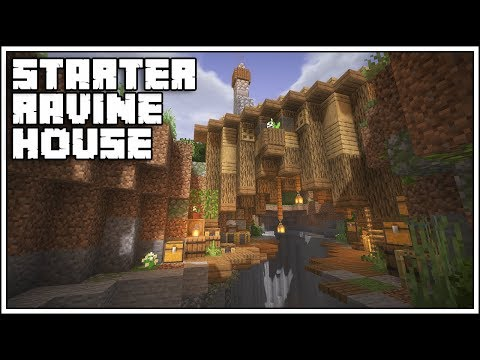 Minecraft 1.14 Starter Ravine House Tutorial