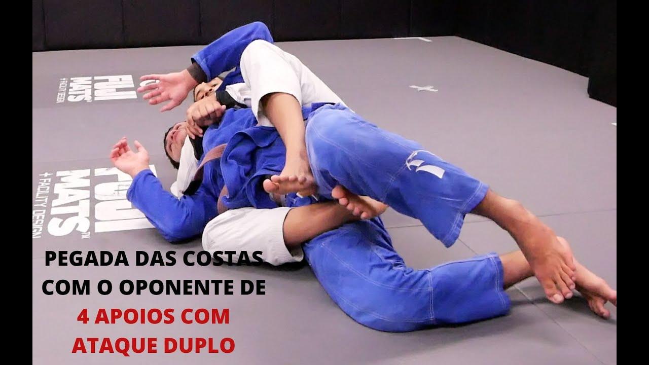 Pegada Das Costas com o Oponente de 4 Apoios | Ataque Duplo | Cesar| Cobrinha BJJ