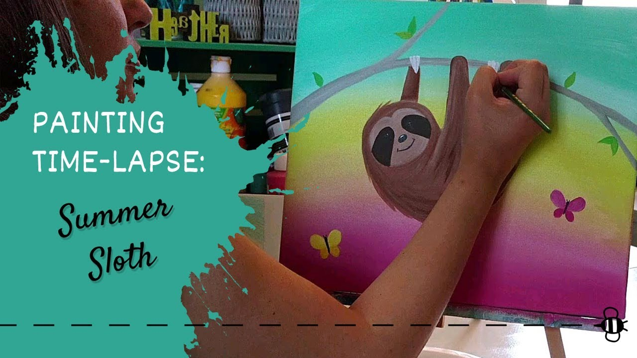Time Lapse - Painting a Sloth Start to Finish