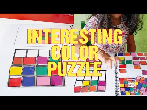 Creative Color Activity For Kids - COLOR PUZZLE